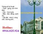 Trụ Đèn Chiếu Sáng Sân Vườn Tại Bình Thuận